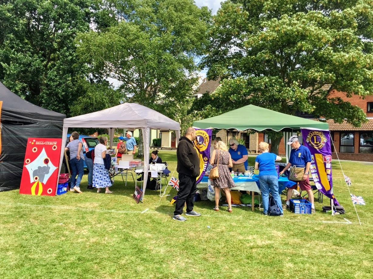 Photo of two stalls at the fete
