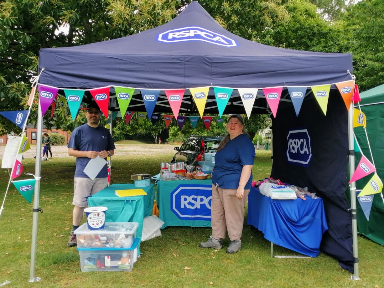 Photo of the RSPCA stall