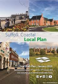 Coloured image: front page of the proposed  Suffolk Coastal Local Plan